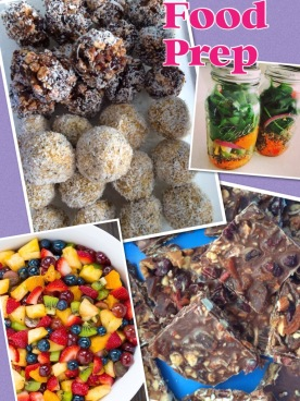 food prep collage