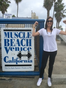When in muscle beach.... Flex those muscles!