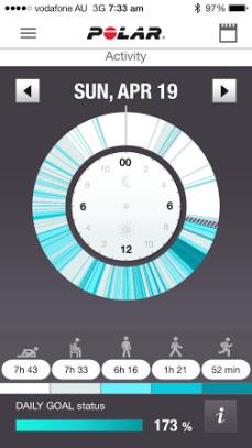 Polar Loop App - Activity Breakdown